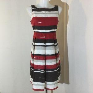 Style & co stripe linen dress size 8 petite